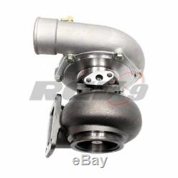 Anti-Surged Turbo TX-72-68 Turbocharger 81 a/r T4 Flange / 3 IN V Band Exhaust