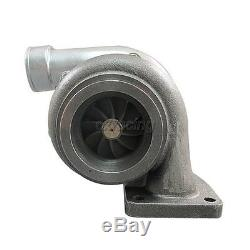 CXRacing GT35 T4 Turbo Charger Anti-Surge 500+ HP + 3 V-Band Clamp Flange Kit