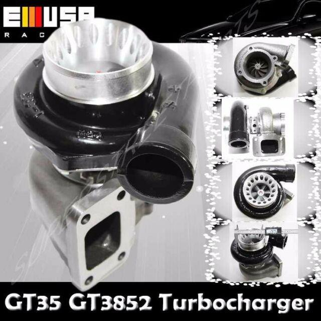 Emusa Black Gt35 Gt3582 Turbo Charger T3 Ar. 70/82 Anti-surge Compressor