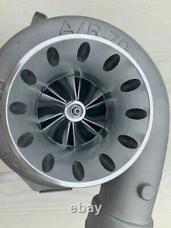 GT3584 Billet T4 flange. 70 A/R anti-surge. 96 A/R V-band turbine turbo charger