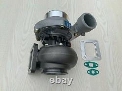 GT3584 Billet T4 flange. 70 A/R anti-surge. 96 A/R V-band turbine turbocharger