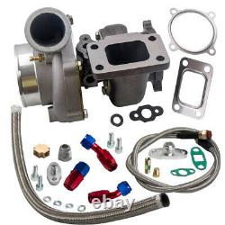 GT35 GT3582 Universal Turbocharger Turbine 10 AN Oil Drain Return Feed Line Kit