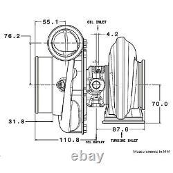 Garrett Gtx3582r Gen2 Turbo T3 Twin-scroll/3.0 V-band 0.82a/r Anti-surge