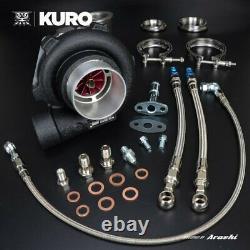 KURO 3 GTX2860R Ball Bearing Turbo Anti-surge A/R 0.72 V-Band with FREE T-shirt