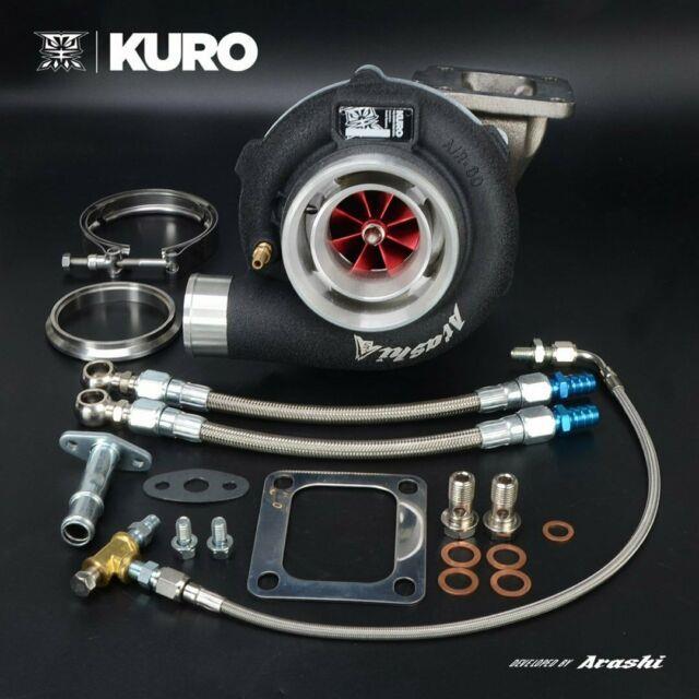 Kuro 4 Gtx3076r Gen2 Ceramic Ball Bearing Turbo 1.06 A/r T4 V-band Anti-surge