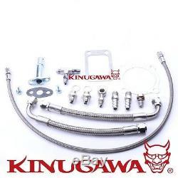 Kinugawa Ball Bearing Turbocharger 4 Anti Surge GTX3076R with. 89 T3 V-Band 4Bolt