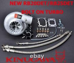 Kinugawa Billet Turbocharger Bolt-On 3 Anti Surge RB20 RB25DET TD06H-25G 10cm