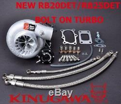 Kinugawa Billet Turbocharger Bolt-On 3 Anti Surge RB20 RB25DET TD06SL2 601 10cm