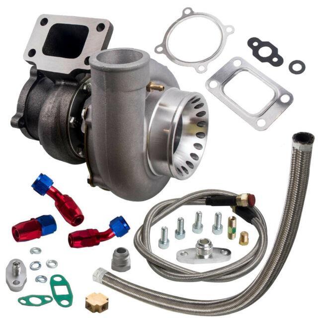 T3 Flange Gt35 Gt3582 Universal A/r. 70 Turbo Turbocharger+oil Feed &return Line