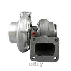 T4 GT35 Turbo Charger Anti-Surge 500+ HP 0.70 0.68 AR + Oil Fitting Drain Flange