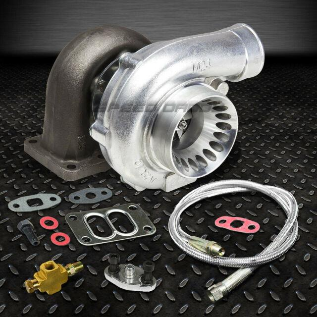 T70 T3 59 Trim A/r. 70 Stage Iii 500+hp Anti-surge Turbo Charger+36oil Feed Line