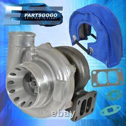 T70 T3.70 A/R Anti-Surge Turbo. 70 Compressor Turbocharger + Blue Heat Shield
