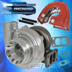 T70 T3.70 A/R Anti-Surge Turbo. 70 Compressor Turbocharger + Red Heat Shield
