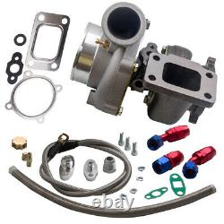 Turbo charger Turbolader GT3582 GT35 Oil Fuel Drain Return Feed Line 10 AN