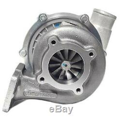 Turbocharger, Garrett T3/T4E, 57 trim 4 comp hsg, anti-surge. 63 A/R T31 4-bolt