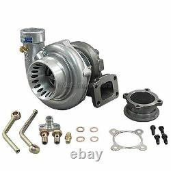 Universal GT35 T3 Turbo Charger Anti-Surge 500+ HP + Oil Fitting Accessories