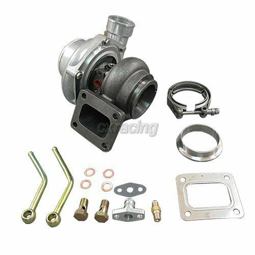 Universal Gt35 T4 Turbo Charger Anti-surge 500+ Hp. 68 A/r + 3 Stainless V-band