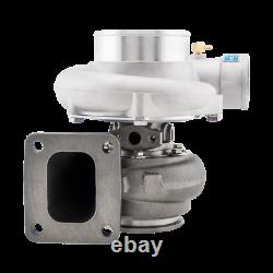 Universal GT35 T4 Turbo Charger Anti-Surge 500+ HP + Oil Fitting 3 V-Band Ex