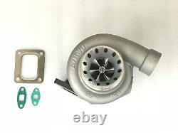 Upgrade billet wheel T66 GT35 GT3584 turbocharger. 70 A/R anti-surge. 68 A/R new